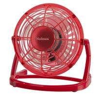 "Holmes® HNF0411B-RM Plastic 4"" USB Fan - Red"