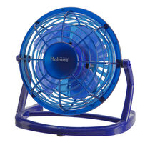 "Holmes® HNF0411B-UM Plastic 4"" USB Fan - Blue"