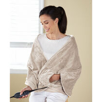 Sunbeam® Royalmink™ Chill-Away™ Heated Wrap, Sand
