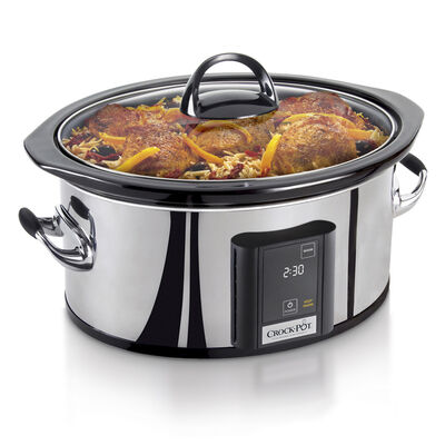 Crock-Pot® 6.5-Quart Countdown Touchscreen Digital Slow Cooker, Polished Stainless Steel