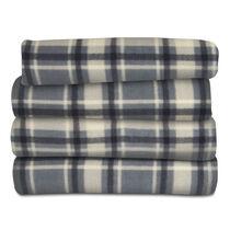 Sunbeam® Fleece Heated Throw, Hamilton Plaid Slate & Black