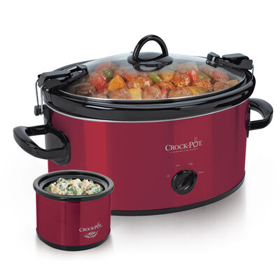 Crock-Pot® 6-Quart Cook & Carry™ Manual Slow Cooker with Little Dipper® Warmer, Red