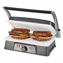 Oster® DuraCeramic™ 2 Serving Panini Maker & Grill, with Metal Accents