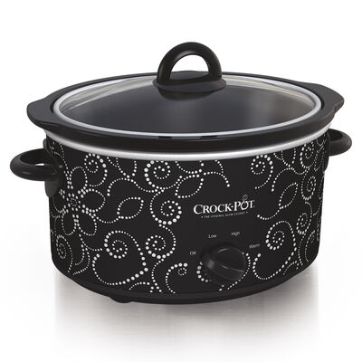 Crock-Pot® 4-Quart Manual Slow Cooker, Heart & Flower Dotted Pattern
