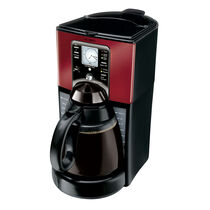 Mr. Coffee® Performance Brew 12-Cup Programmable Coffee Maker, Red/Brushed Chrome