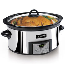 Crock-Pot® 6Qt. Oval Countdown Programmable Slow Cooker, Polished Stainless