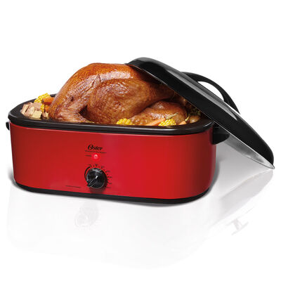 Oster® 16-Quart Smoker Roaster Oven, Red, CKSTROSMK18