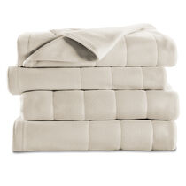Sunbeam® Queen Quilted Fleece Heated Blanket, Seashell