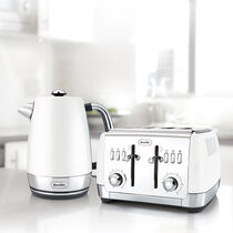 Strata Collection Jug Kettle and Toaster Set, White