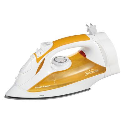 Sunbeam® Steam Master® Iron with Retractable Cord, White & Orange