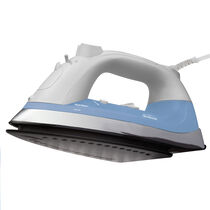 Sunbeam® Classic Iron, White, Blue & Chrome