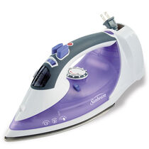 Sunbeam® Steam Master® Iron with Retractable Cord, White & Purple