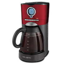 Mr. Coffee® Performance Brew 12-Cup Programmable Coffee Maker Red Stainless/Black