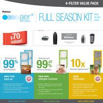 Holmes® aer1® Full Season Kit, 4-Filter Value Pack