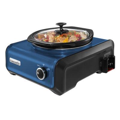 Crock-Pot® Hook Up® Connectable Entertaining System, 2-Quart, Metallic Blue