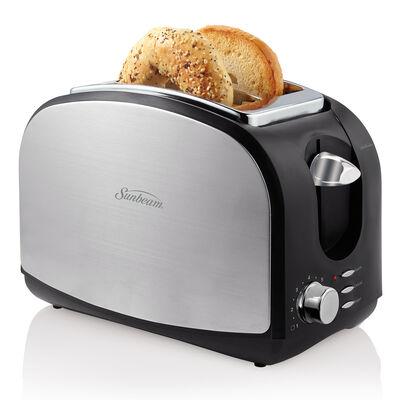 Sunbeam® 2-Slice Toaster, Black & Stainless Steel