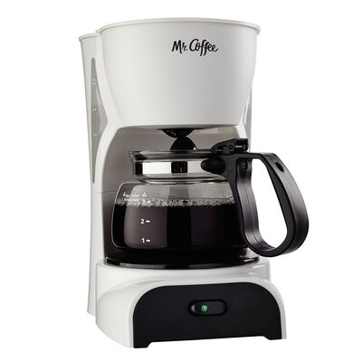 Mr. Coffee® Simple Brew 4-Cup Switch Coffee Maker White, DR4-NP