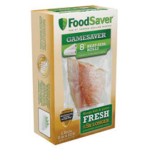 "FoodSaver® GameSaver®  8"" x 20' Long Vacuum-Seal Rolls, 2 Pack"