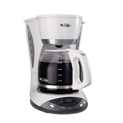 Mr. Coffee® Simple Brew 12-Cup Programmable Coffee Maker White, DWX20-RB