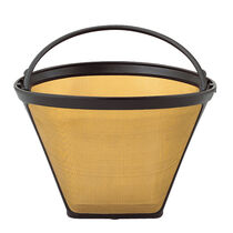 Gold Tone Permanent Filter, 10-12 Cup, Cone Style