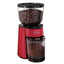 Automatic Burr Mill Grinder, Stainless Steel, Red