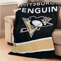 Sunbeam® NHL® Fleece Heated Throw, Pittsburg Penguins®