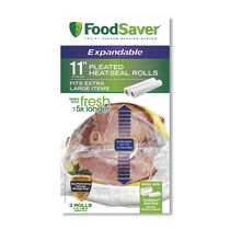 """FoodSaver® 11"""" x 20' Expandable Heat Seal Rolls, 2 Pack"""