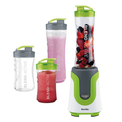 Breville Blend Active Personal Blender Family Pack with x2 600ml and x2 300ml Bottles, Green