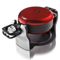Oster Double Flip Waffle Maker, Red
