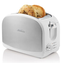 Sunbeam® 2-Slice Toaster, White & Stainless Steel