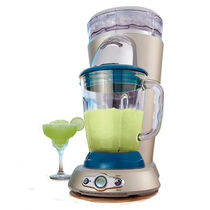 Margaritaville® Bahamas™ Frozen Concoction Maker®, with No-Brainer Mixer and Salt & Lime Tray, White & Blue