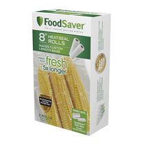 "FoodSaver®  8"" x 20' Vacuum-Seal Roll, 2 Pack"