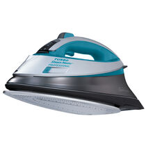 Sunbeam® TURBO Steam Master® Digital Professional Iron, Silver/Turquoise