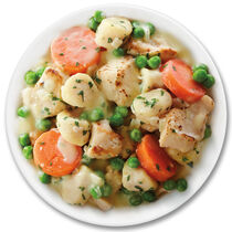 NEW! Crock-Pot® Cuisine Roasted Chicken with Mini Herbed Dumplings