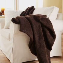 Sunbeam® Oversized Sherpa Heated Throw, Walnut