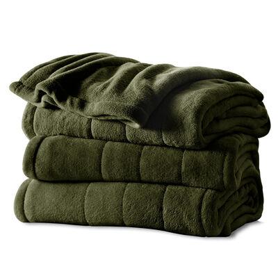 Sunbeam® Full Channeled Microplush Heated Blanket, Ivy