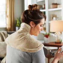 Sunbeam® Renue® Tension Relief Heating Wrap, Camel/Olive