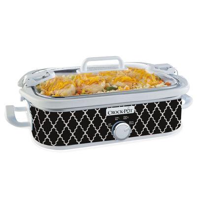 Crock-Pot® 3.5-Quart Casserole Crock Slow Cooker, Black & White Pattern