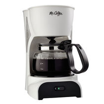 Mr. Coffee® Simple Brew 4-Cup Switch Coffee Maker White