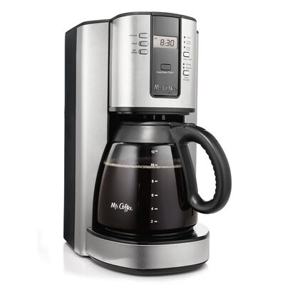 Coffee Maker With Metal Parts : Mr. Coffee Performance Brew 12-Cup Programmable Coffee Maker Stainless Steel, BVMC-TJX37-RB on ...