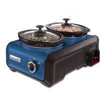 Crock-Pot® Hook Up® Connectable Entertaining System, Two 1-Quart, Metallic Blue