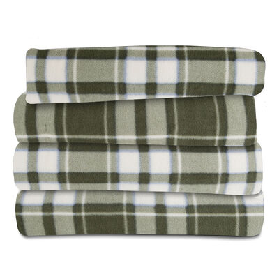 Sunbeam® Fleece Heated Throw, Prestwick Plaid & Ivy
