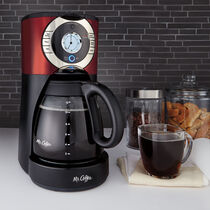 Mr. Coffee® Advanced Brew 12-Cup Programmable Coffee Maker, BVMC-EJX36-RB