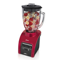 Oster® 14-Speed Blender with Glass Party Jar - Metallic Red