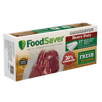 "FoodSaver® GameSaver®  11"" x 12' Heavy-Duty Vacuum-Seal Gallon Rolls, 2 Pack"