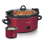 Crock-Pot® Cook & Carry™ Manual Slow Cooker with Little Dipper® Warmer, Red by Crock-Pot