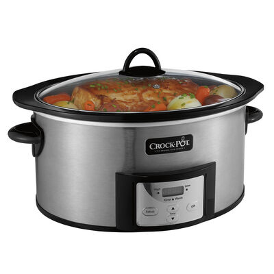 NEW!  Crock-Pot® 6-Quart Slow Cooker with Stovetop-Safe Cooking Pot
