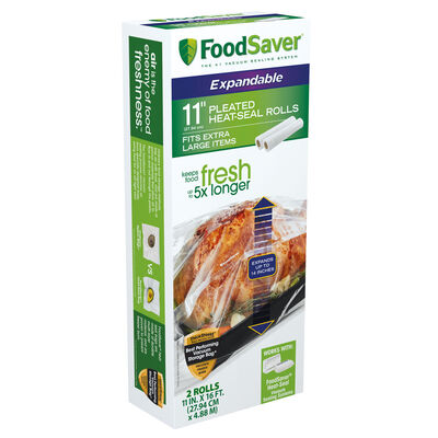 """FoodSaver® 11"""" Expandable Heat Seal Rolls, 2-Pack"""