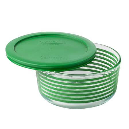 Storage Plus® 4 Cup Green Lane Storage Dish w/ Green Lid