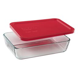 Simply Store® 3 Cup Rectangular Dish w/ Red Lid
